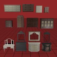 3d model dresser collection01