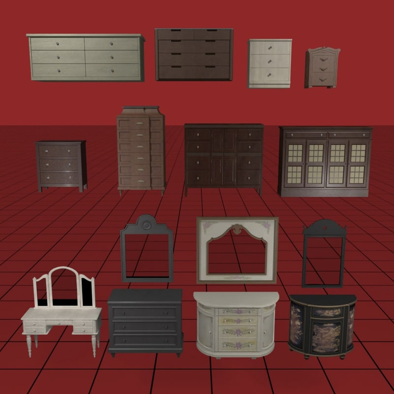 3d dresser collection01