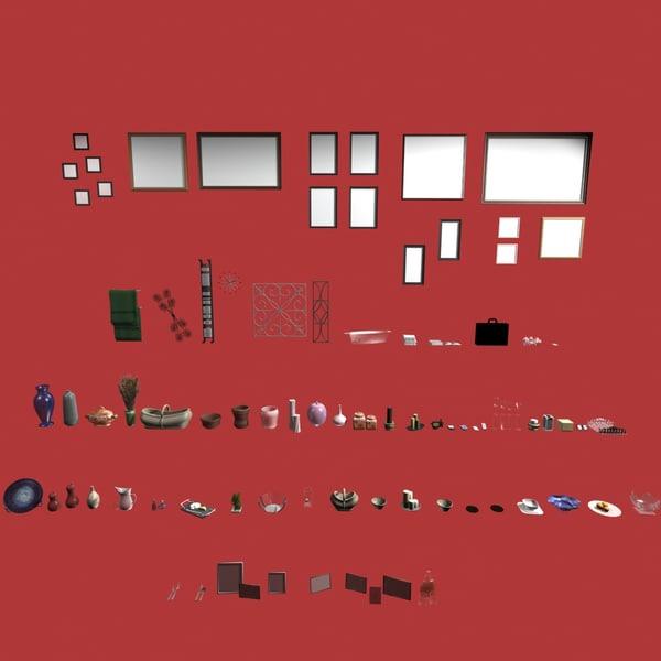3d model objects art frames