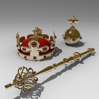 3ds max crown jewels mace apple