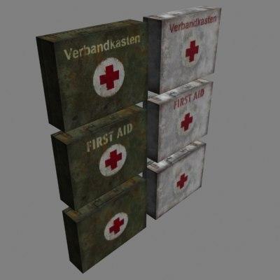 3d aid kits model