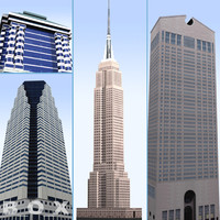 20 new york skyscrapers 3d model