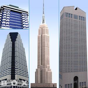 20 new york skyscrapers 3d model