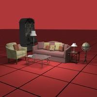 living sofa chair 3d max
