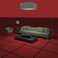 3dsmax living sofa chair