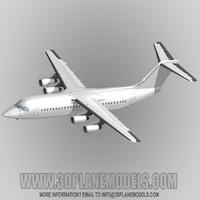 BAe146-300/RJ100 generic white