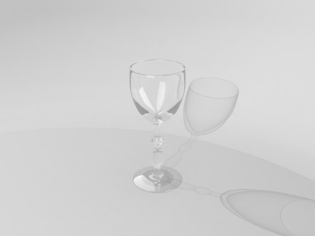 3d simple glass model