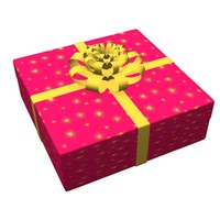 3d gift box present