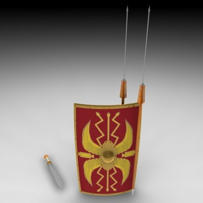 3d weapon rom roman model