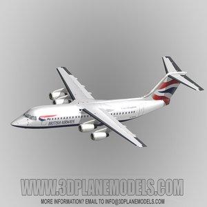 british aerospace 146-300 regional jet 3d max