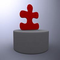 puzzle piece obj free