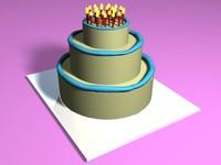simple cake 3d model