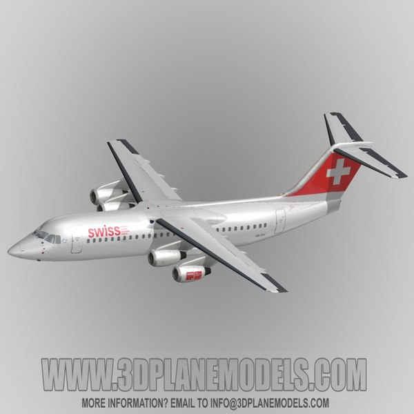 british aerospace 146-300 regional jet 3d obj