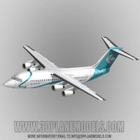 british aerospace 146-300 regional jet 3d model