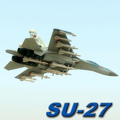 su27b russian 3d model