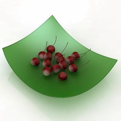 3d model of cherries fruit