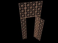 Lattice-work metal gates