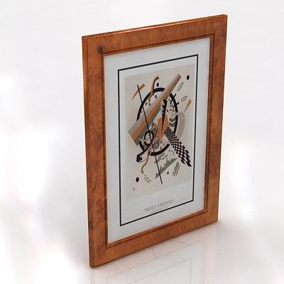 frames paintings 3d model