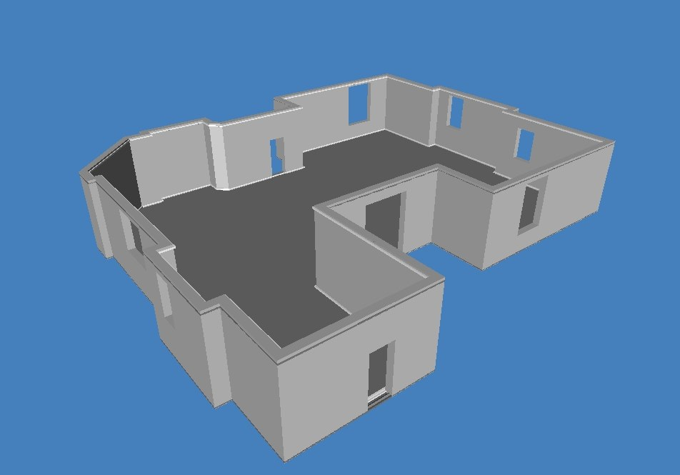 free 3ds model house building
