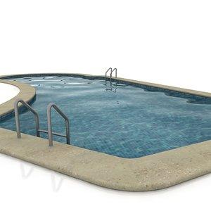 swimming-pool swimming 3d max