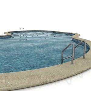 swimming-pool swimming 3d model