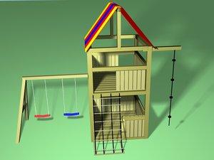 3d model play gym set