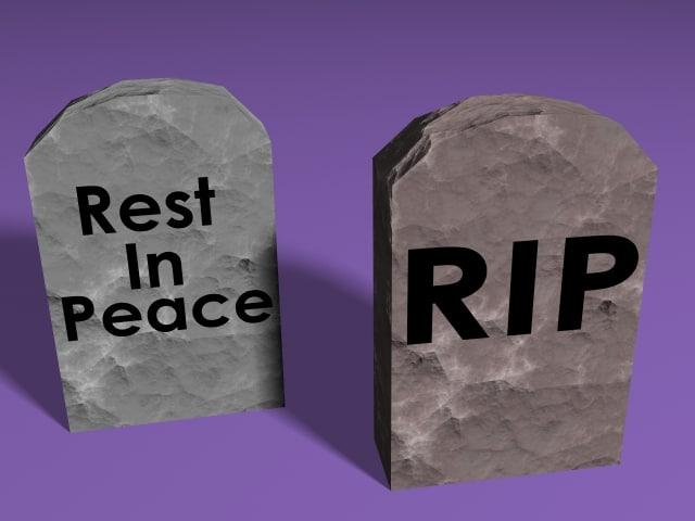 tombstones rip 3d model