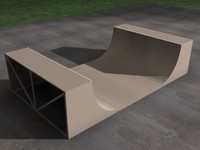 skateboard ramp 3d 3ds