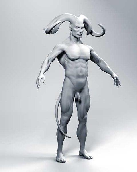 realistic demon 3d model