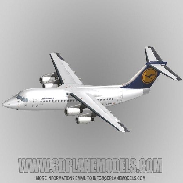3d model british aerospace 146-200 regional jet