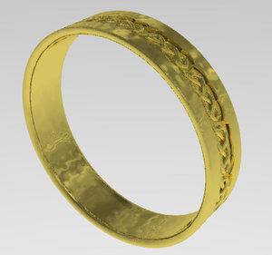 celtic wedding band 3d 3ds