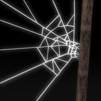 cobweb spider web 3d dxf