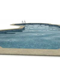 swimming-pool swimming 3d model
