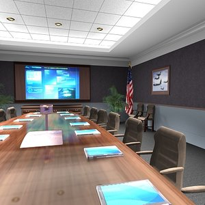 military conference room 3d max