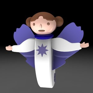 3d model of christmas angel