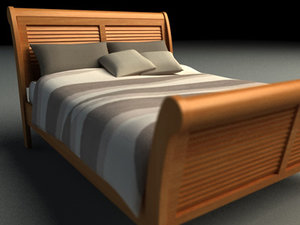 3d modern bed interior