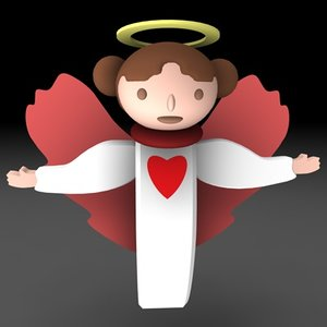 3d christmas angel model