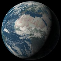 Photorealistic earth