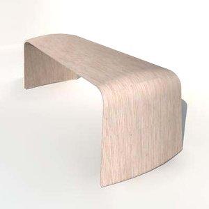 volta bench 3d model