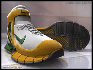 basketball shoes 3d model