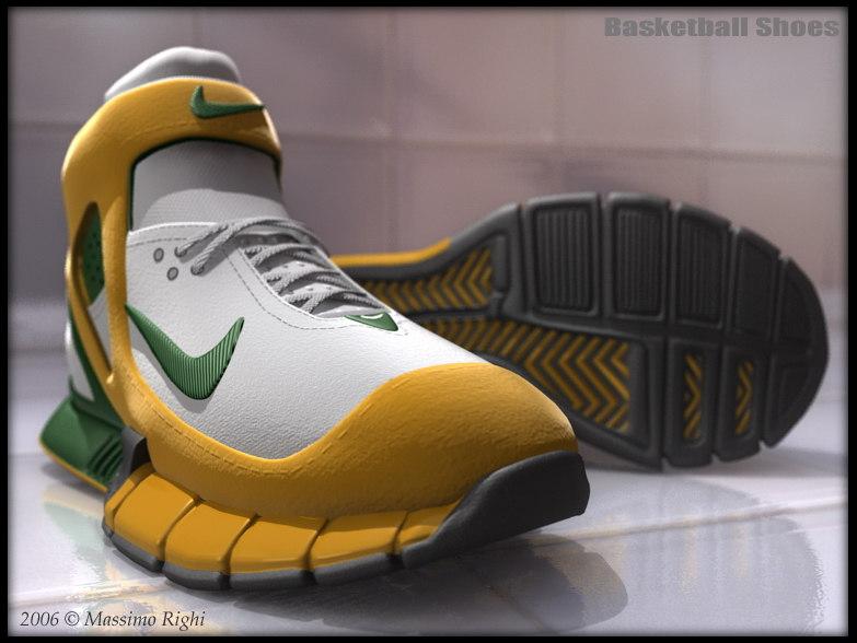 basketball shoes 3d model