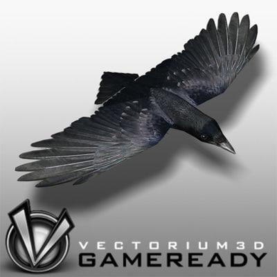 3dsmax crow bird