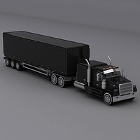 semi trailer truck 3d 3ds