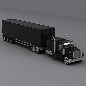semi trailer truck 3d 3ds