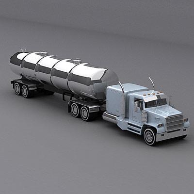 semi trailer truck 3d model