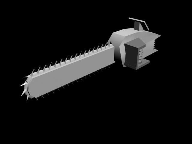 chain saw 3d model