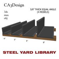 3d model 5 equal angle