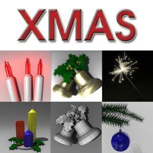 xmas bells christmas 3d 3ds