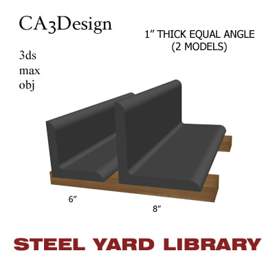 1in equal angle 3d model