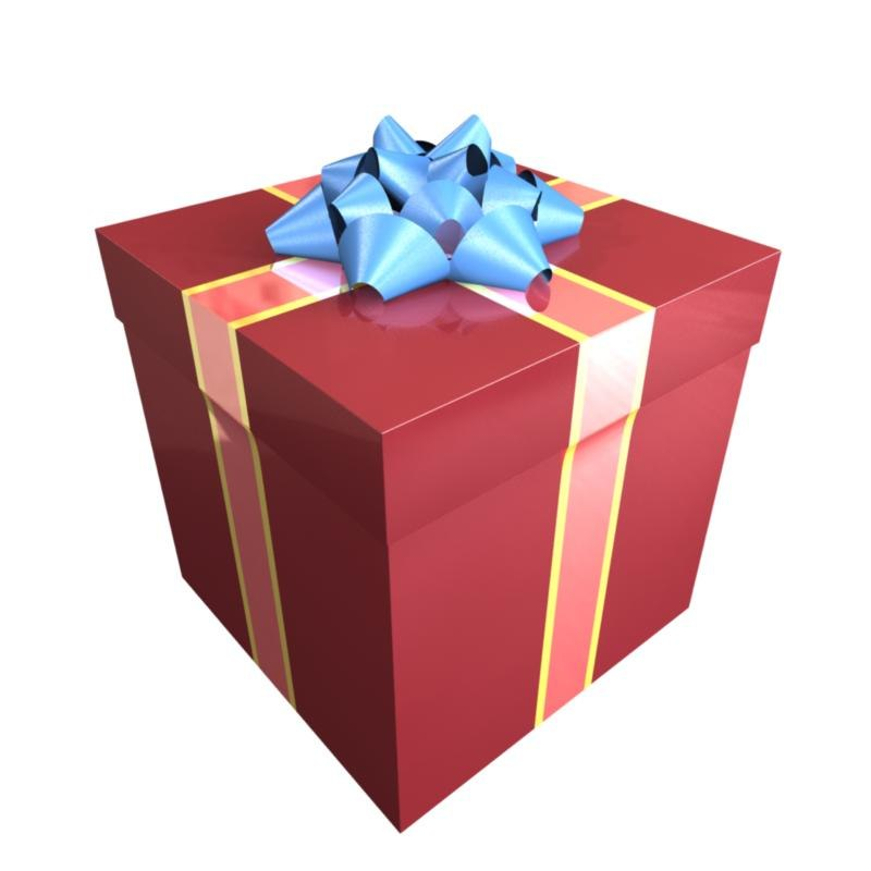 wrapped giftbox presents obj